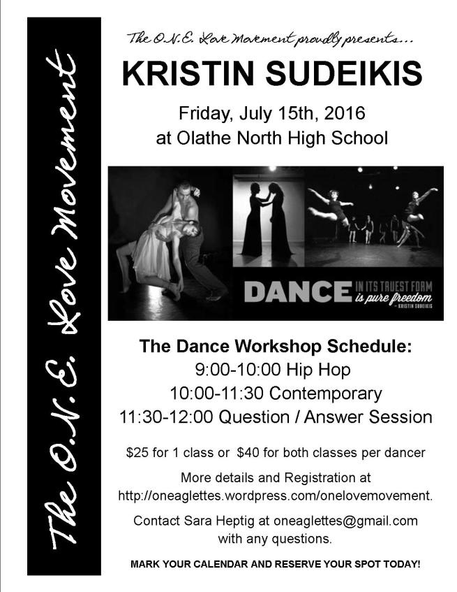 Kristin Sudeikis Workshop - Advertising Flier 2016